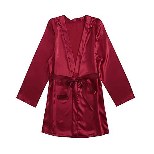 HCOO Body Damen Weihnachten Sexy Kleidung Für Frauen Süße Oberteile Damen Lingerie Set Damen Sexy Fischnetz Body Ouvert Chiffon Bodysuit Frauenbodysuit (T1-Wein,XXXXL)