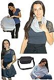 Funda para lactancia materna, bufanda infinita, multicolor, color gris, 100% algodón