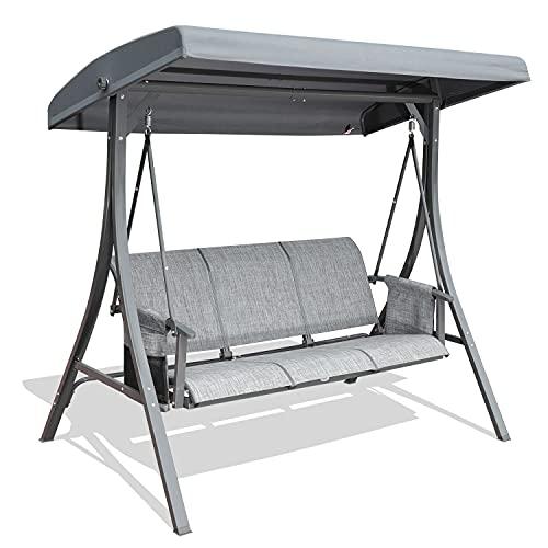 GOLDSUN Durable 3 Person Outdoor Patio Swing Chair...