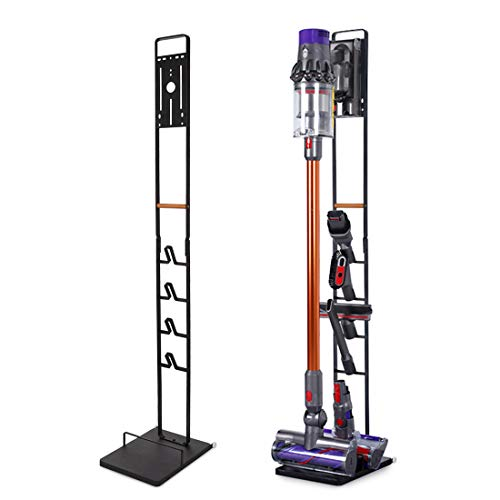 Vacuum Stand for Dyson V11 V10 V8 V7 V6 - Vacuum Accessories Stable Metal Organizer Stand Holder, Dyson Handheld DC30 DC31 DC34 DC35 DC58 DC59 DC62 Cordless Vacuum Cleaners Storage Rack (Black)