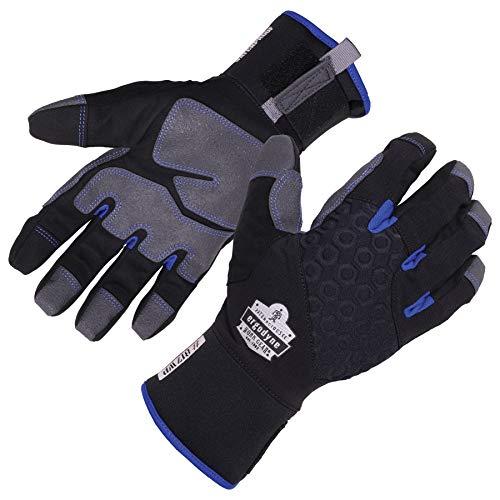 Ergodyne ProFlex 817WP Waterproof Work Gloves, Thermal Insulated, Touchscreen, Reinforced Palms,Black,Small