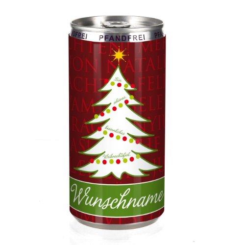 City Secco in der Dose mit Weihnachtsgrüßen und Wunschname (weiß trocken) 200 ml