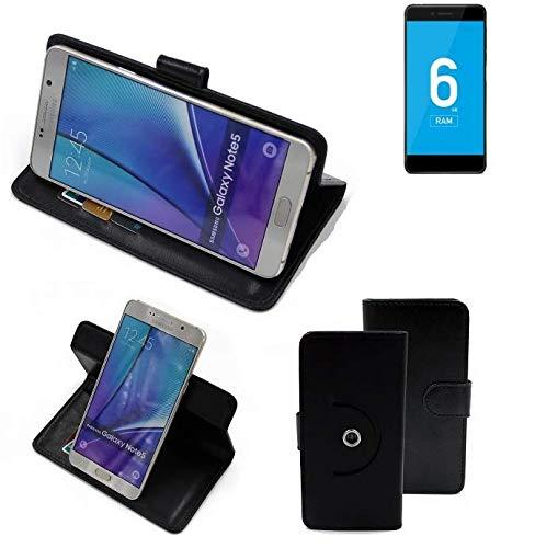 K-S-Trade® Hülle Schutz Hülle Für Vernee Mars Pro 4G Handyhülle Flipcase Smartphone Cover Handy Schutz Tasche Bookstyle Walletcase Schwarz (1x)