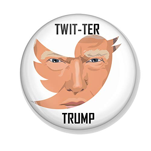 Gifts & Gadgets Co. Twitter Trump Miroir de maquillage rond 58 mm