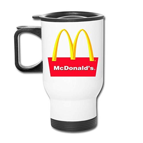 JUKIL Personalisierte Mcdonalds Symbol Edelstahl Autotasse für kaltes Trinkwasser für Frauen