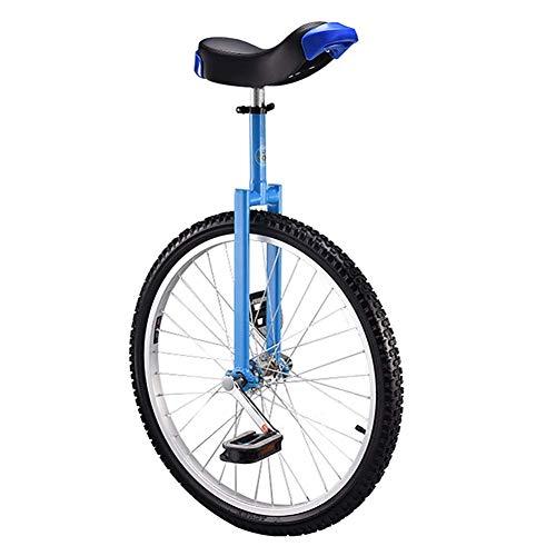 Einrad Blaue Erwachsene 24-Zoll-Rad Einrad, Anfanger Kinder (18 Jahre) 20/18/16 Zoll Balance Cycling, mit Alufelge, fur Spas Fitness (Size : 16inch Wheel)