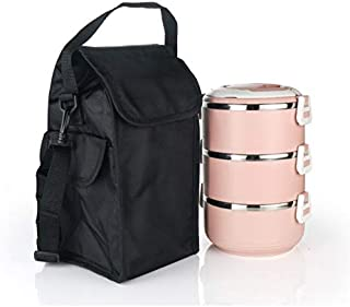 St. Lun Insulated Lunch Bag for men Thermal Cooler Picnic Container Box Lunch Food Bags office,Color:Black,Size:Large(33 *...