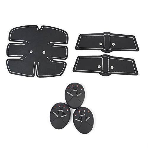 WJW Electroestimulador Muscular Abdominales Masajeador Eléctrico Cinturón, Abdomen/Brazo/Piernas/Cintura Entrenador Muscular,Alimentado por Batería, 10 Niveles De Intensidad (Hombre/Mujer)
