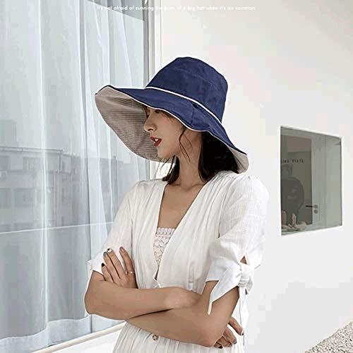 TWDYC Womens Garden Hat,Both Sides wear, Foldable Wide Brim, pefect for Women Fishing