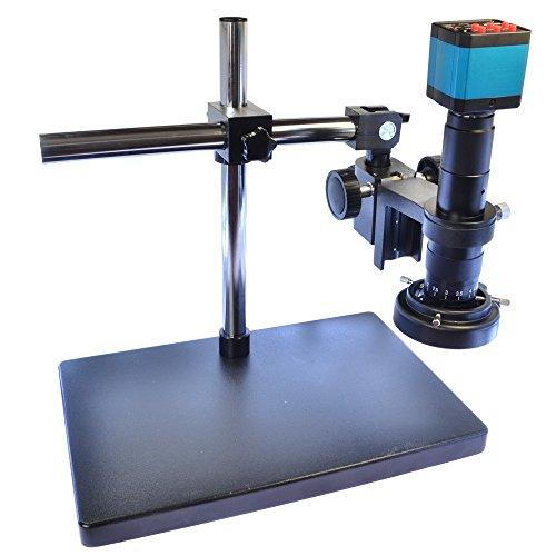 14MP HDMI HD USB Digital Industry Video Microscope Camera Set&Big Boom Stand Universal Bracket &180X C-Mount Lens & 60 LED Light