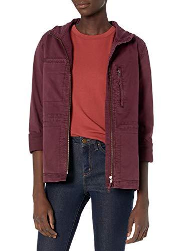 Amazon Brand - Daily Ritual Women's Military Cargo Jacket, Fig, 12