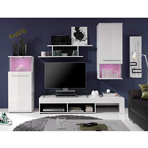 Wohnwand – Modern in weiß Bild 2*