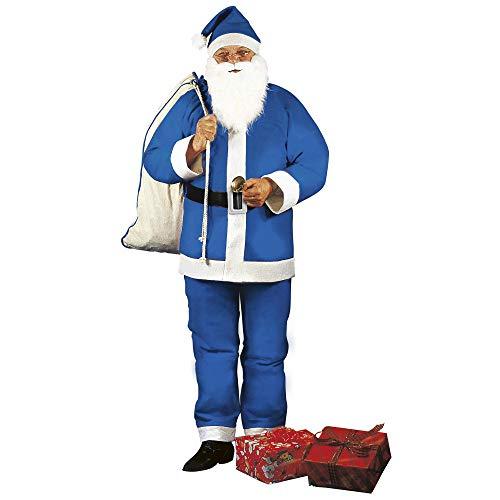 WIDMANN wid1536e?Disfraz para adulto Navidad Papá Noel, multicolor, talla única