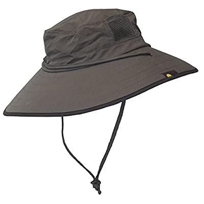 Sun Protection Zone Unisex Booney Hat (Charcoal with Black Trim)