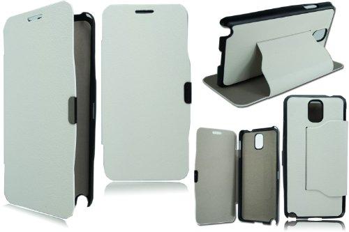 PIXFAB New Slim Blanco Tapa Soporte–Funda Tipo Libro para Samsung Galaxy Note...
