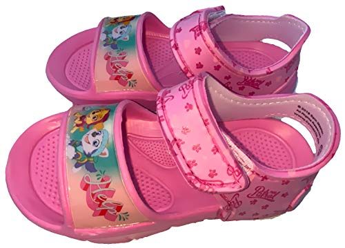 Sandalen für Mädchen Schuhe, kompatibel zu PAW PATROL rutschfeste Sohle, Klettverschluss, Hausschuhe, Kinderschuhe Sommerschuhe Badeschuhe rosa Gr.24/25