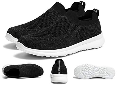 ZKPZYQ Zapatillas de correr para hombre, zapatillas de deporte ligeras, zapatillas deportivas, transpirables, zapatillas deportivas (44, negro)