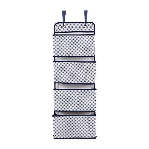YuuHeeER Organizador colgante de 4 bolsillos para colgar sobre la puerta, bolsa de almacenamiento de pared para colgar en el armario de tela