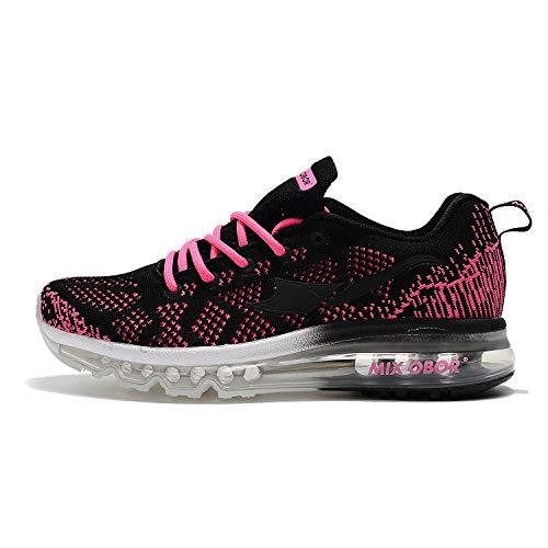 Mixobor Luftgefederte Laufschuhe für Damen und Herren, Unisex, Turnschuhe, modische Sportsneakers, Jogging, Fitness, Studio, Leichtathletik, Pink - hellrosa - Größe: 37 EU