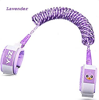 FlowerGrower Kid Anti Lost Wristband Toddler Safety Harness Bracelet Leash Yaz Child Wrist Link with Lock and Buckle 1.5m/4.9ft,Lavender/Purple