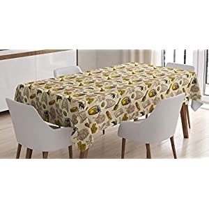 Lunarable Digital Printed Multicolor Tablecloths