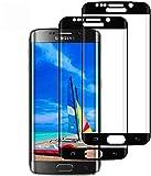 DOSMUNG Cristal Templado para Samsung Galaxy S6 Edge, [2 Pack] Vidrio Templado de Samsung S6 Edge, Cobertura Completa/Dureza 9H/3D Curvado/Anti Dactilares Protector de Pantalla para Galaxy S6 Edge