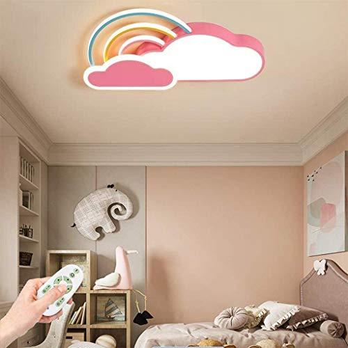 Baby Spot luz de la lámpara de techo lámpara Led luz de techo Sala Infantil nubes blancas del arco iris niños y niñas de techo Iluminación techo de la habitación de la historieta de Pantalla, Rosa, re