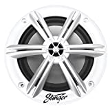 Stinger SEA65W 16.5 cm 75 W RMS Marine Speaker (4 Ohm, White, Salt, Mist, UV Resistant, Corrosion-Free Connections) for Boat, Yacht, Sauna & Bath & Powersports
