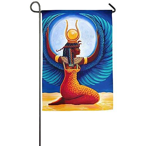 N/A Dekor ägyptischen Isis Frühling Patio Hof Hausgarten Fahnen 12 X 18 Zoll Polyester Fiber Banner