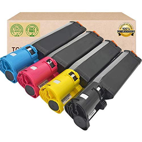Suitable for DELL 593-10154 593-10155 593-10156 593-10157 Toner Cartridge,Compatible Replace DELL 3000CN 3100CN 3010 Toner,4 Colors