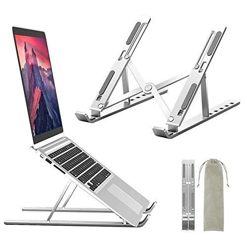 """Ozvavzk Soporte Portátil,Soporte Ventilado Ordenador Portátil de Aluminio,Laptop Stand Ajustable,Compatible con MacBook, DELL, HP, Huawei 10-15.6""""y Otros Portatiles(Carga Máxima de 40 kg)"""