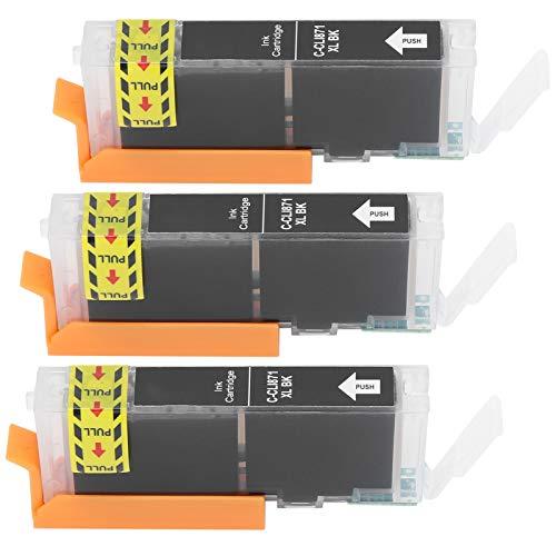 Tnfeeon Reemplazo Colorido de la Caja de la Impresora del Cartucho de Tinta 3Pcs para Las impresoras de inyección de Tinta 13ml(Negro)