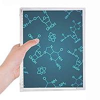 ブルー化学分子構造図 硬質プラスチックルーズリーフノートノート