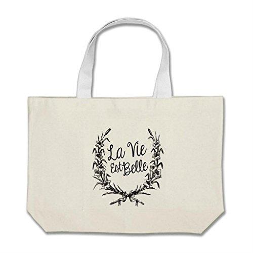 ShowMore La Vie Est Belle - Bolsas para trabajo, color blanco