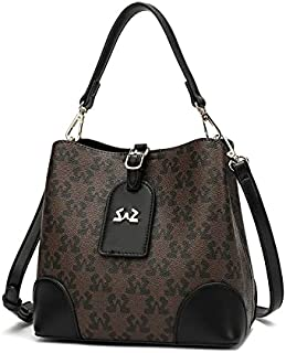 حقيبة نسائية من SAGA مع حزام جلد بني غامق/اسود