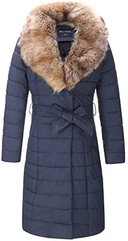 Bellivera Leather Puffer Jacket for Women Winter Bubble Padding Long Puffer Coats with Detachable product image