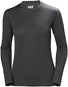 Helly Hansen HH Tech Crew Camiseta Deportiva Manga Larga, Mujer, Ebony, L