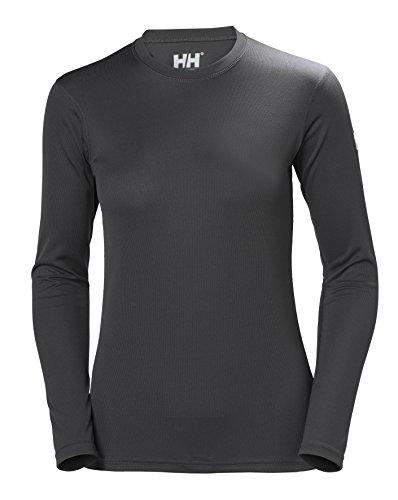 Helly Hansen HH Tech Crew Camiseta Deportiva Manga Larga, Mujer, Ebony, M