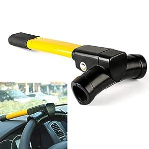 Anti-robo Cerradura retráctil del volante del coche con llaves Herramienta de seguridad de protección de seguridad universal para vehículos