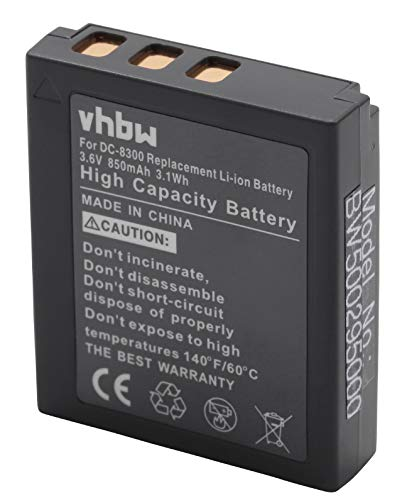vhbw Batería Recargable Compatible con Voigtländer Virtus D8, W7, XM 8600, XM-8600 cámara Digital, DSLR (850 mAh, 3,6 V, Li-Ion)