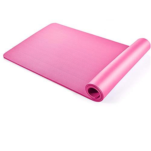 WZX mat Tapis de Yoga 10MM 15MM épais Tapis de Yoga en Mousse pour Le Yoga et la Famille Pilates Stuoia extérieure de Yoga (Color : Rose, Taille : 10mm)