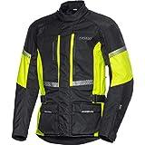 FLM Motorradjacke mit Protektoren Motorrad Jacke Touren Textiljacke 4.0 gelb 3XL, Herren, Tourer, Ganzjährig, Polyamid