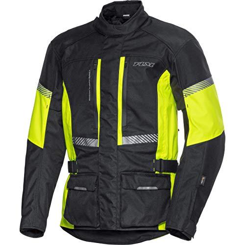 FLM Motorradjacke mit Protektoren Motorrad Jacke Touren Textiljacke 4.0 gelb XL, Herren, Tourer, Ganzjährig, Polyamid