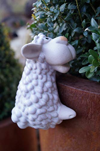 Rostalgie Keramik Topf-Hänger Tierfiguren Dekoration Geschenk Garten - 1 STÜCK (Keramik, Schaf)