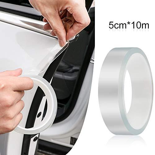 Gresunny protezione per portiera auto antigraffio protezione per paraurti posteriore protezione per davanzale della portiera dellauto trasparente adesivi sottoporta per auto SUV camion (5 cm * 10 m)