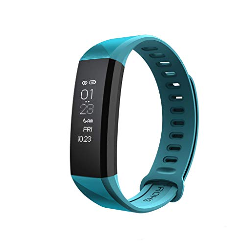 Coband Fitness Tracker with Heart Rate Monitor, Blood Pressure Meter, Smart Notification, IP68 Waterproof, Step Calorie Counter, Sleep Monitor, Fitness Band for Kids Women Men (Blue)