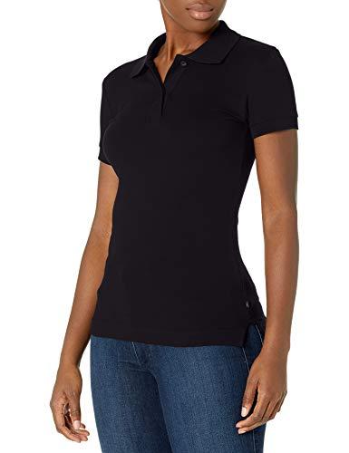 Lee Uniforms Juniors Stretch Pique Polo, Black, Large