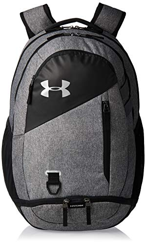 Under Armour Hustle 4.0 Accesorio Deportivo, Mochila para Portátil Resistente Al Agua, Unisex, (Black/Graphite Medium Heather/Black(001), Taglia Unica