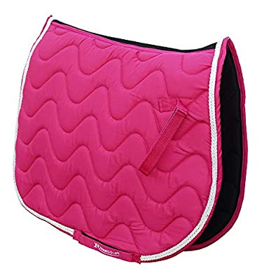 Rhinegold Wave Saddle Pad-Pony-Raspberry