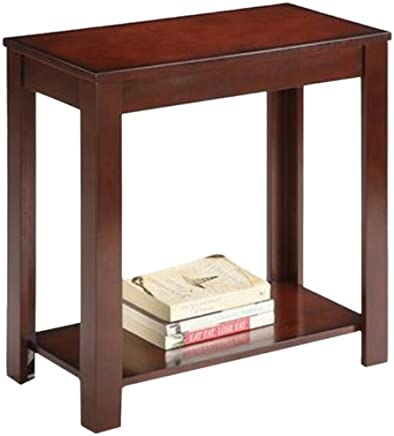 ORE International 7710 Traditional Side Table,  Dark Cherry,  24-Inch